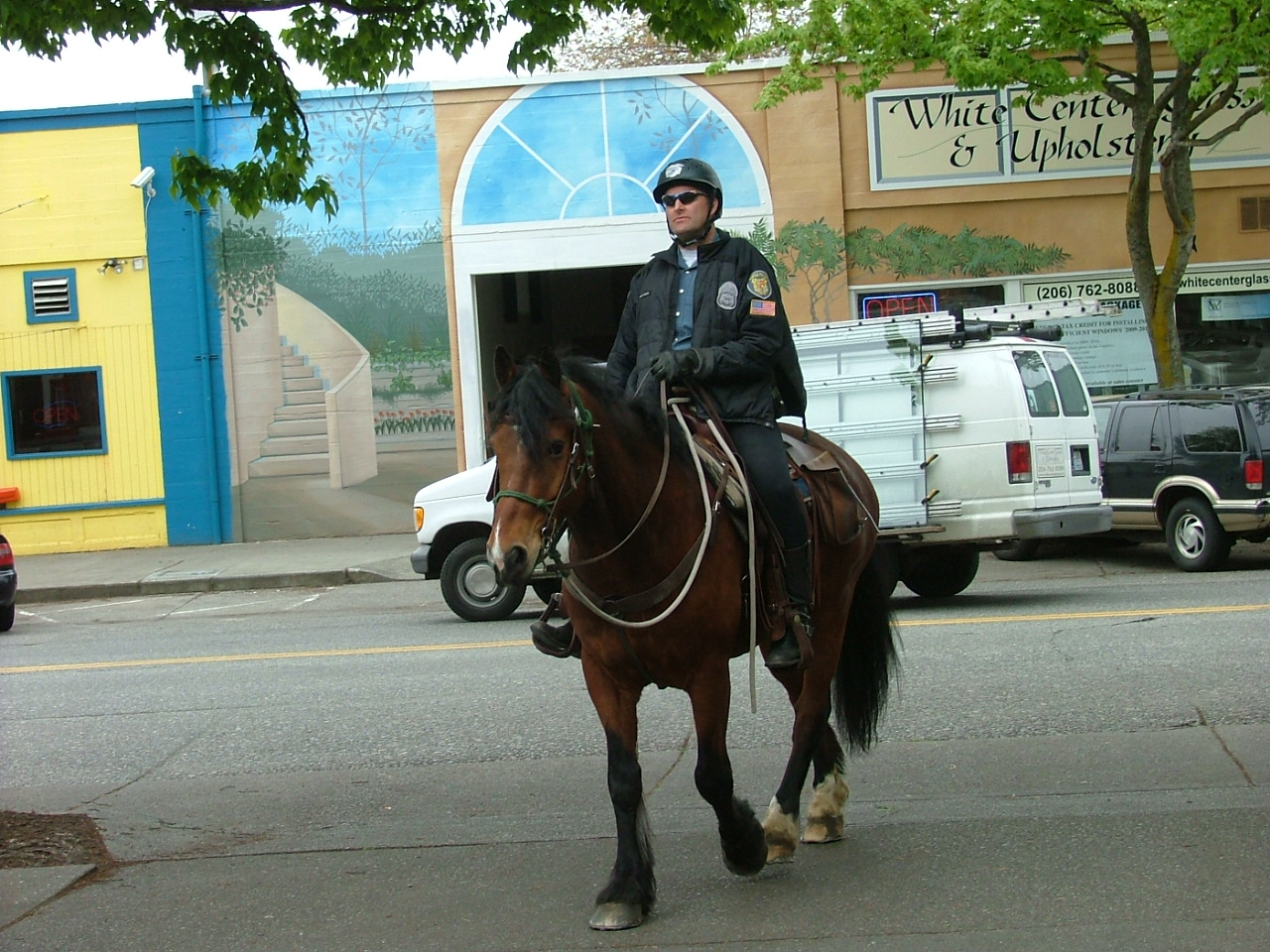 SPD patrol on horse