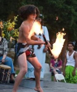 Fire dancer at CDA luau