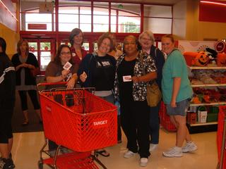 Teachers from the Highline School District alternative programs get ready to shop.